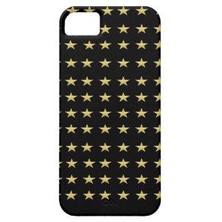 De gelukkige Zwarte van Sterren met het Gouden Barely There iPhone 5 Hoesje