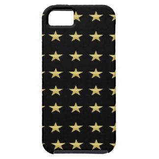 De gelukkige Zwarte van Sterren met het Gouden Tough iPhone 5 Hoesje