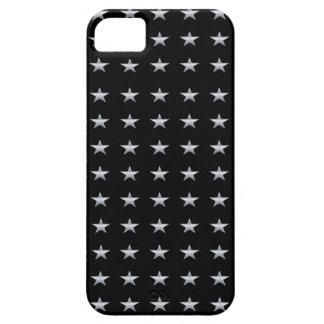 De gelukkige Zwarte van Sterren met het Zilveren Barely There iPhone 5 Hoesje