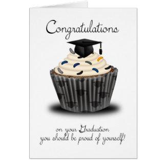 De Gelukwensen van de Afstuderen van Cupcake Wenskaart