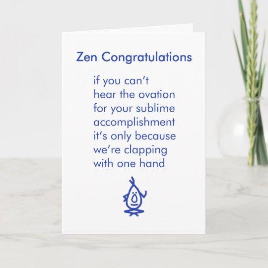 Fonkelnieuw De Gelukwensen van Zen - een grappig Kaart | Zazzle.nl OJ-69