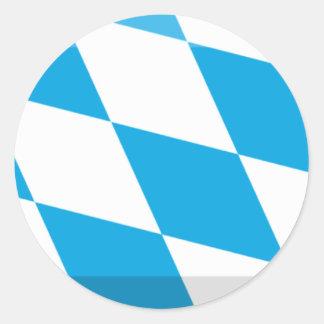 De Gem van de Vlag van Beieren Ronde Sticker