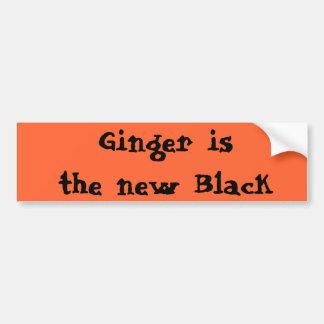 De gember is de nieuwe Zwarte Bumpersticker