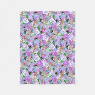 De gemengde Digitale Madeliefjes van de Kleur Fleece Deken