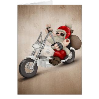 De gemotoriseerde Kerstman Briefkaarten 0
