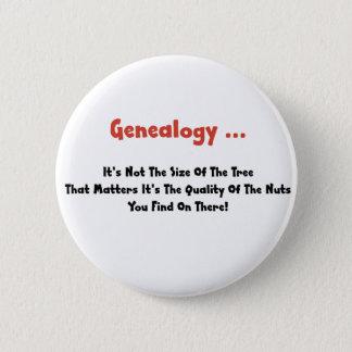 De genealogie… het is niet de Grootte van de Boom Ronde Button 5,7 Cm