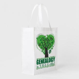 De genealogie is Treerific Herbruikbare Boodschappentassen