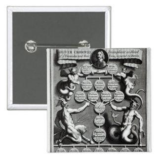 De genealogie van anti-Christus Oliver Vierkante Button 5,1 Cm