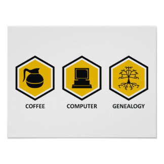 De Genealogie van de Computer van de koffie Posters