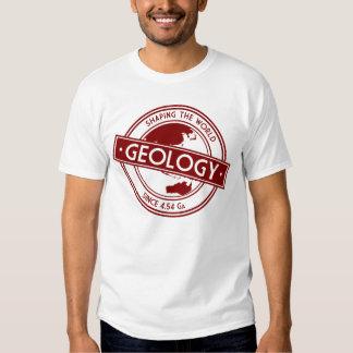 De geologie die het Logo van de Wereld Tshirt