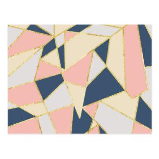 De Geometrische Driehoeken van Girly met Goud Faux Briefkaart