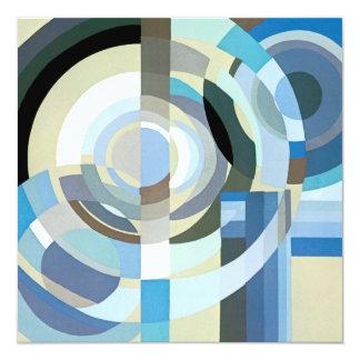 De Geometrische Vormen van de vintage van het Art 13,3x13,3 Vierkante Uitnodiging Kaart