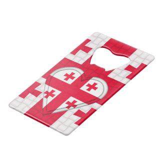 De Georgische Vlag van Georgië Creditkaart Flessenopener