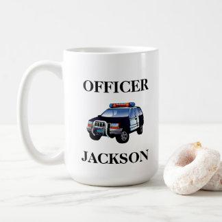 De gepersonaliseerde Ambtenaar van de Politiewagen Koffiemok