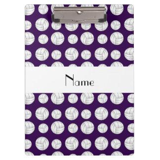 De gepersonaliseerde ballen van het naam paarse klembord