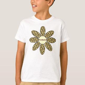 De gepersonaliseerde Bloem van de Druk van de T Shirt