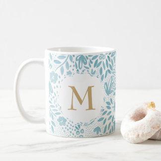 De gepersonaliseerde BloemenMok van het Patroon Koffiemok