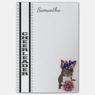 De gepersonaliseerde Cheerleader nota's van de Post-it® Notes