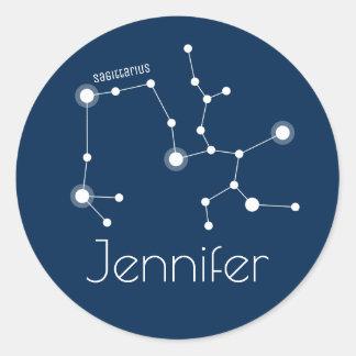 De gepersonaliseerde Constellatie van de Ronde Sticker