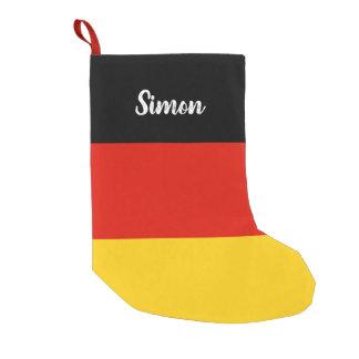 De gepersonaliseerde Duitse kous van vlagKerstmis Kleine Kerstsok