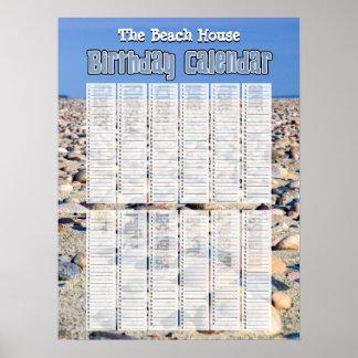 De gepersonaliseerde Eeuwige Kalender van de Poster
