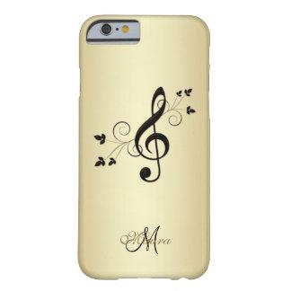 De gepersonaliseerde Fancy Sleutel van de Muziek Barely There iPhone 6 Hoesje