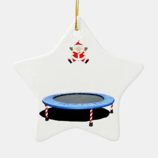 de gepersonaliseerde gift van trampolineKerstmis Keramisch Ster Ornament