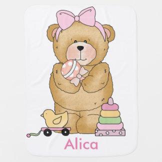 De Gepersonaliseerde Giften van Alica Teddybeer Inbakerdoek