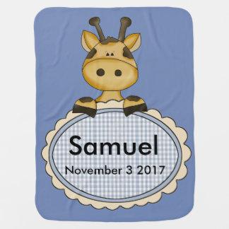 De Gepersonaliseerde Giraf van Samuel Kinderwagen Dekentje