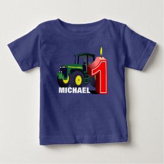 De gepersonaliseerde Groene Eerste Verjaardag van Baby T Shirts