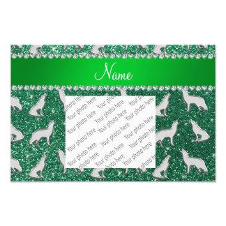 De gepersonaliseerde groene munt van de naam fotoprints