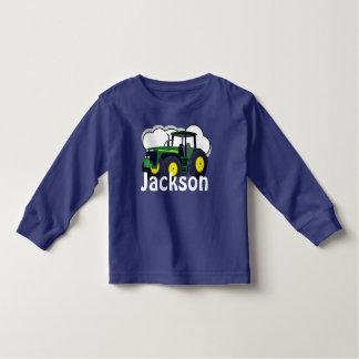 De gepersonaliseerde Groene Tractor van het Kinder Shirts
