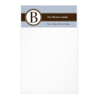 De gepersonaliseerde Kantoorbehoeften van de Famil Briefpapier