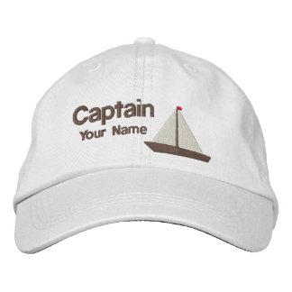 De gepersonaliseerde Kapitein van het Jacht Geborduurde Pet