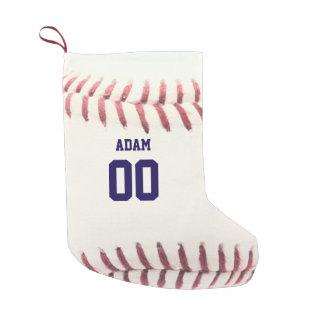 De Gepersonaliseerde Kous van het honkbal Textuur Kleine Kerstsok