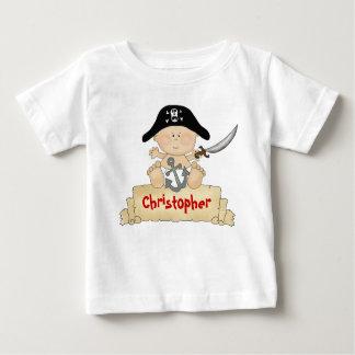 De gepersonaliseerde Leuke Jongens van de Piraat Baby T Shirts