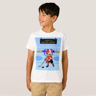 De gepersonaliseerde Leuke ster van het Ijshockey T Shirt