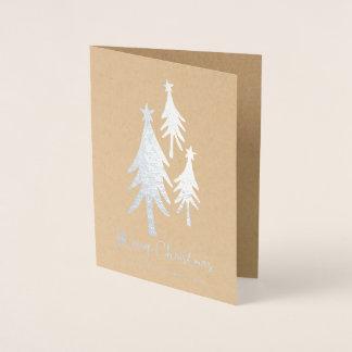 De gepersonaliseerde Leuke Vakantie van Kerstbomen Folie Kaarten