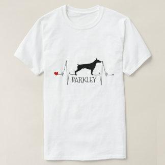 De gepersonaliseerde Liefde Doberman Mijn Hart van T Shirt