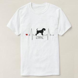 De gepersonaliseerde Liefde van Airedale Mijn Hart T Shirt