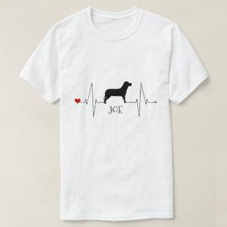 De gepersonaliseerde Liefde van Labrador Mijn Hart T Shirt