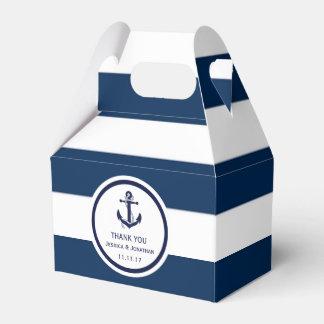 De gepersonaliseerde Marineblauwe ZeevaartGunst Bedankjes Doosjes