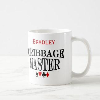 De gepersonaliseerde Meester van de Cribbage Koffiemok