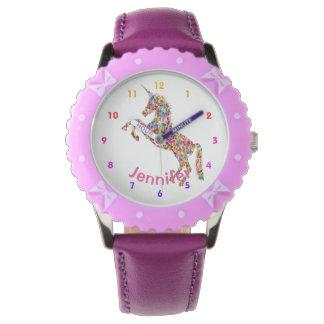 De gepersonaliseerde Meisjes van de EENHOORN Horloge