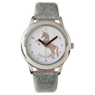 De gepersonaliseerde Meisjes van de EENHOORN Horloges