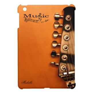 De gepersonaliseerde Muziek is het Leven met gitaa iPad Mini Cover