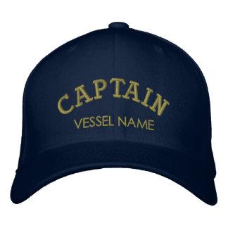 De gepersonaliseerde Naam van de Boot Kapitein Hat Geborduurde Pet