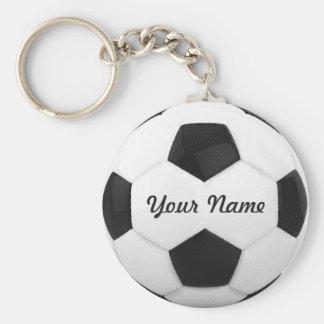 De Gepersonaliseerde Naam van het voetbal Bal Sleutelhanger