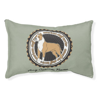 De Gepersonaliseerde Naam van hondenrassen AmStaff Hondenbedden