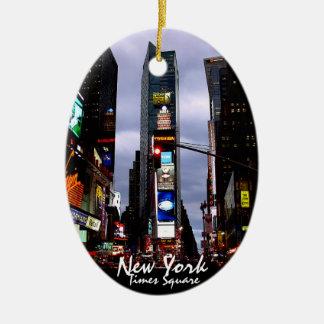 De Gepersonaliseerde New York Herinnering van New Keramisch Ovaal Ornament
